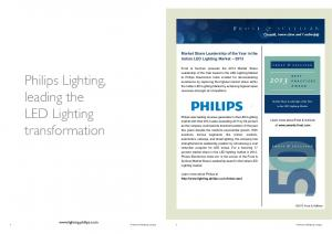 Philips Lighting, leading the LED Lighting transformation