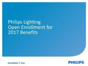 Philips Lighting Open Enrollment for 2017 Benefits