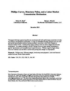 Phillips Curves, Monetary Policy, and a Labor Market Transmission Mechanism