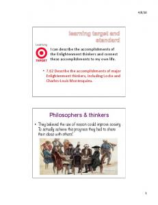 Philosophers & thinkers