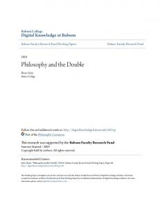 Philosophy and the Double