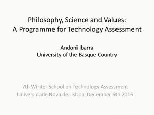 Philosophy, Science and Values: A Programme for Technology Assessment