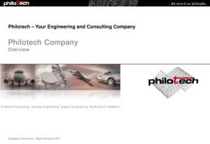 Philotech Company Overview