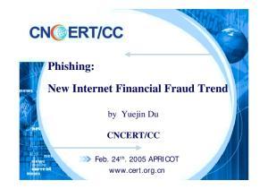 Phishing: New Internet Financial Fraud Trend