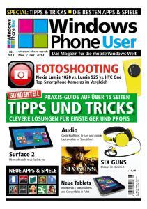 Phone User FOTOSHOOTING. Nokia Lumia 1020 vs. Lumia 925 vs. HTC One Top-Smartphone-Kameras im Vergleich TIPPS UND TRICKS