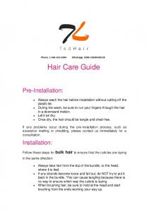 Phone: Whatsapp: Hair Care Guide
