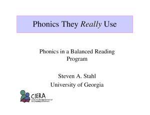 Phonics They Really Use
