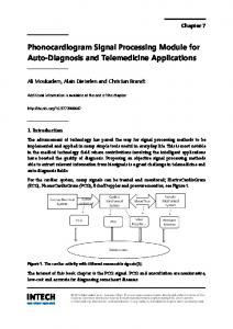 Phonocardiogram Signal Processing Module for Auto-Diagnosis and Telemedicine Applications