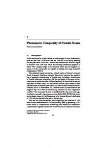 Phonotactic Complexity of Finnish Nouns