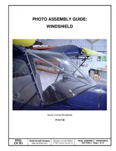 PHOTO ASSEMBLY GUIDE: WINDSHIELD