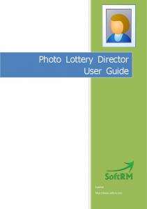Photo Lottery Director User Guide