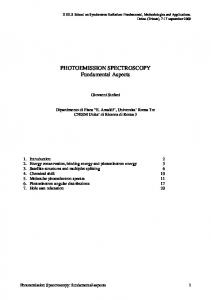 PHOTOEMISSION SPECTROSCOPY Fundamental Aspects