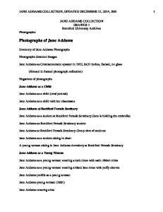 Photographs of Jane Addams