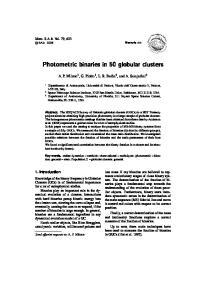 Photometric binaries in 50 globular clusters