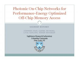 Photonic On-Chip Networks for Performance-Energy Optimized Off-Chip Memory Access