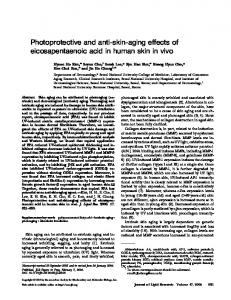 Photoprotective and anti-skin-aging effects of eicosapentaenoic acid in human skin in vivo