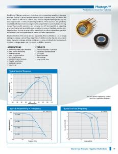 Photops Photodiode-Amplifier Hybrids