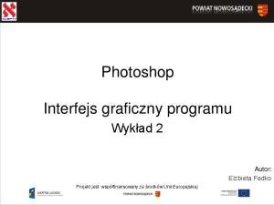 Photoshop. Interfejs graficzny programu