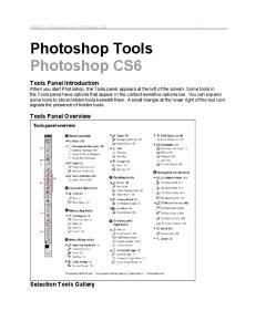 Photoshop Tools Photoshop CS6