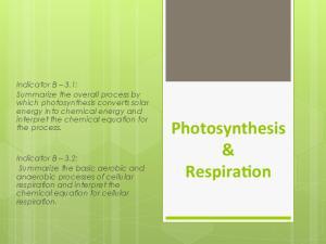 Photosynthesis & Respira0on