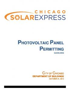 PHOTOVOLTAIC PANEL PERMITTING