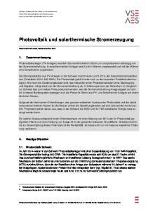Photovoltaik und solarthermische Stromerzeugung