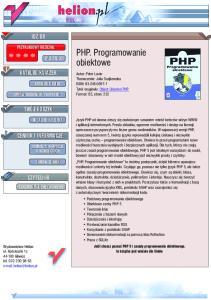 PHP. Programowanie obiektowe