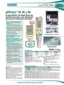 phtestrs 10, 20, y 30