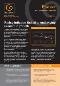 Phuket. Rising inflation linked to underlying economic growth Highlights. Forward Outlook Economic Overview
