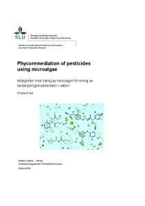 Phycoremediation of pesticides using microalgae