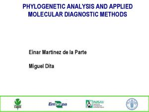 PHYLOGENETIC ANALYSIS AND APPLIED MOLECULAR DIAGNOSTIC METHODS