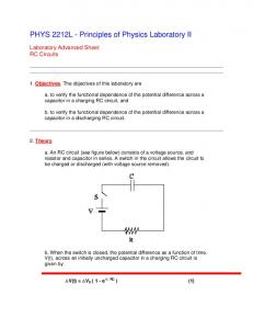 PHYS 2212L - Principles of Physics Laboratory II