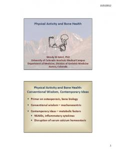 Physical Activity and Bone Health: