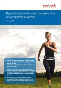 Physical activity and its role in the prevention of osteoporosis in women