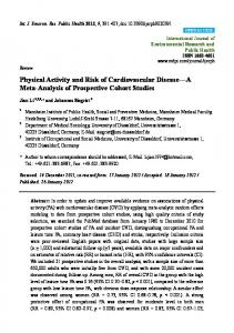 Physical Activity and Risk of Cardiovascular Disease A Meta-Analysis of Prospective Cohort Studies