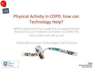 Physical Activity in COPD: how can Technology Help?