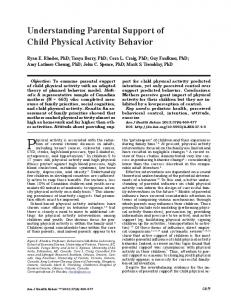 Physical activity is associated with the reduction