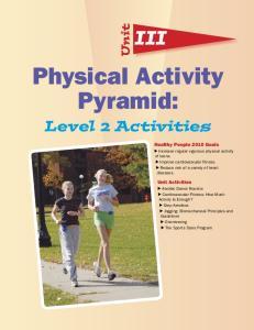 Physical Activity Pyramid: