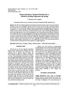 Physical and Sensory Changes in Pistachio Nuts as Affected by Roasting Temperature and Storage