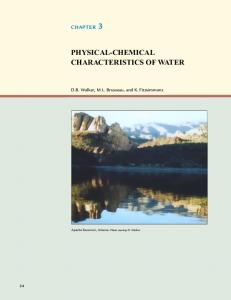 PHYSICAL-CHEMICAL CHARACTERISTICS OF WATER