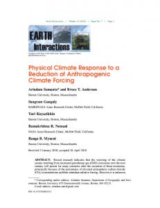 Physical Climate Response to a Reduction of Anthropogenic Climate Forcing