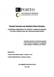 Physical Education and Aesthetic-Ethical Education