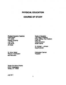 PHYSICAL EDUCATION COURSE OF STUDY