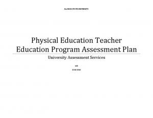 Physical Education Teacher Education Program Assessment Plan