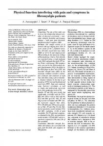 Physical function interfering with pain and symptoms in fibromyalgia patients