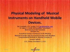 Physical Modeling of Musical Instruments on Handheld Mobile Devices