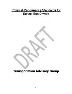 Physical Performance Standards for School Bus Drivers