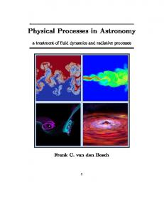 Physical Processes in Astronomy