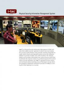 Physical Security Information Management System