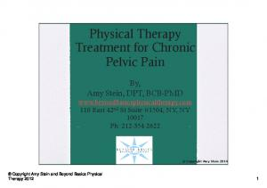 Physical Therapy Treatment for Chronic Pelvic Pain